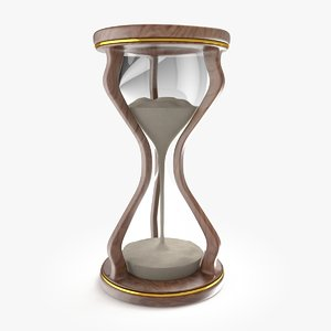 hourglass retro 3d model