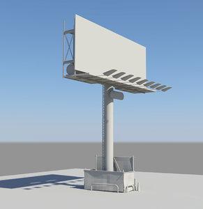 3d billboard sign model
