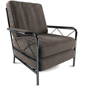 brown jordan armchair 3d model