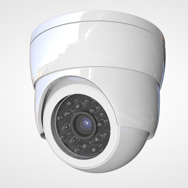 security camera 3d obj