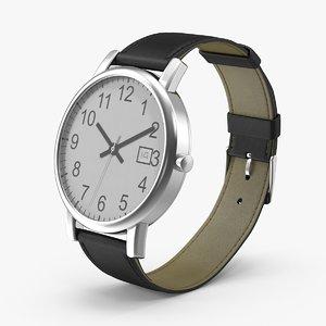 3d model men s wrist watch