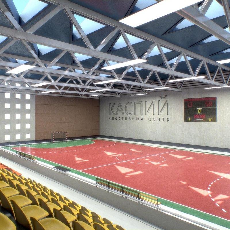 athletics gym interior 3d obj