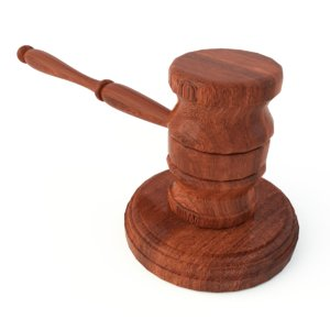 3d wooden gavel soundboard