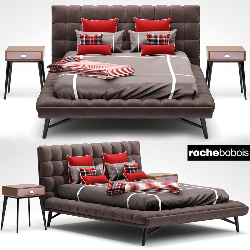 roche bobois bed 3d max. Black Bedroom Furniture Sets. Home Design Ideas