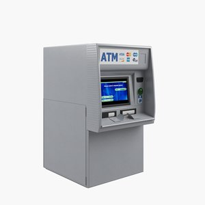 3d model of atm machine cash