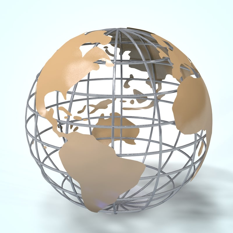 planet earth structure 3d model