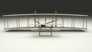 rigged 1903 wright flyer 3d obj
