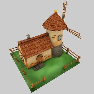 windmill house 3d model