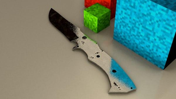 3d model metal knife