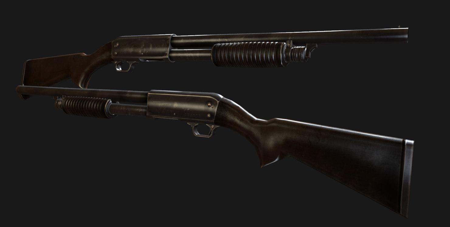 ithaca 37 shotgun m37 3ds
