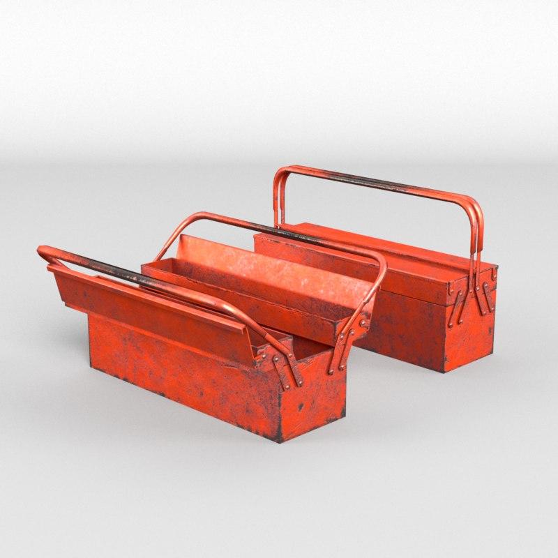Tool toolbox 3d model 3d tool free