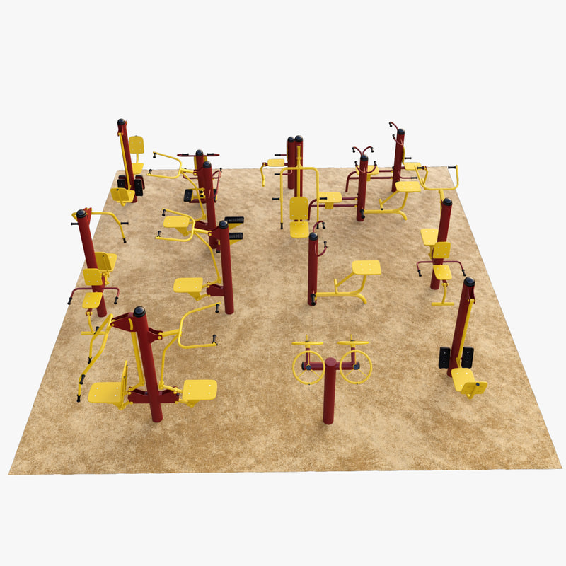 sports equipment outdoor gym 3d model