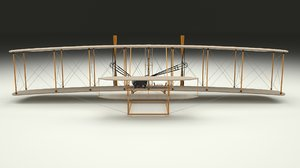 3d rigged wright flyer model