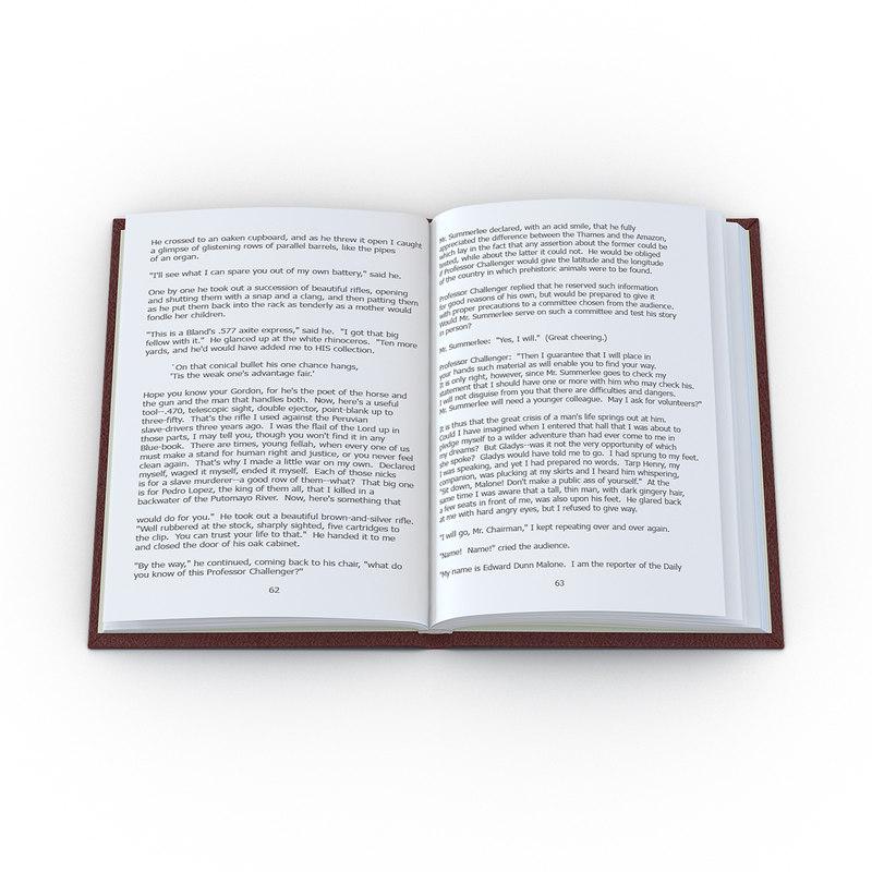 open book 2 3d max