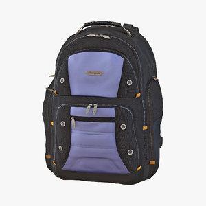 backpack 2 blue 3d c4d