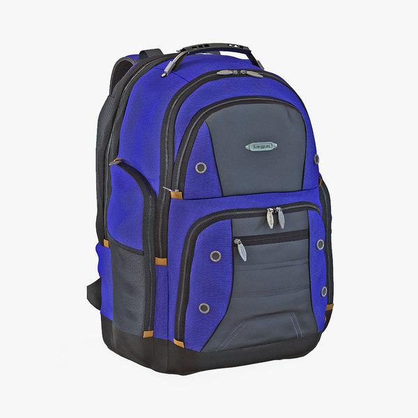 3d 3ds backpack 2 modeled