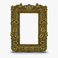 3d baroque picture frame 3 model