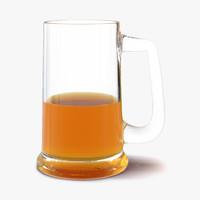 Half Full Beer Mug