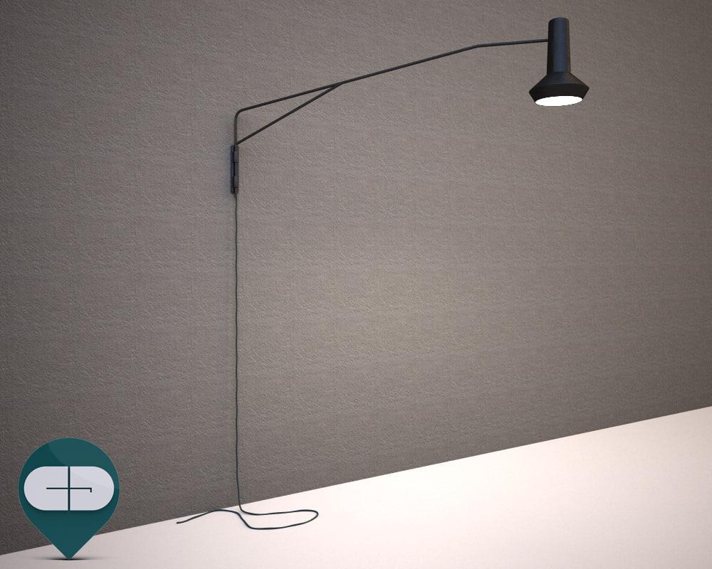 lamp scandinavian 3d obj