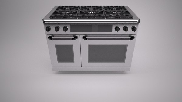 3d model gas range cooker