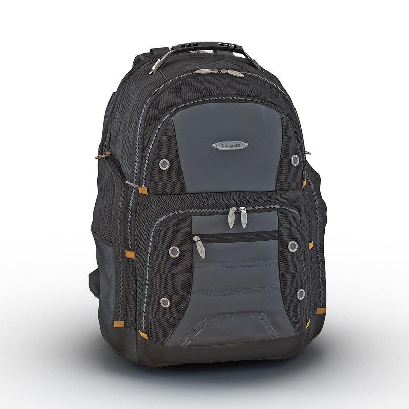3d backpack 2 black