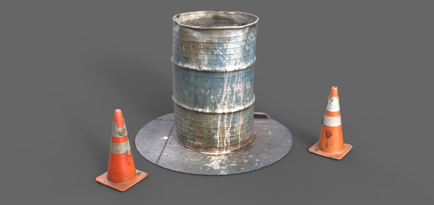 3d model 55 gallon barrel