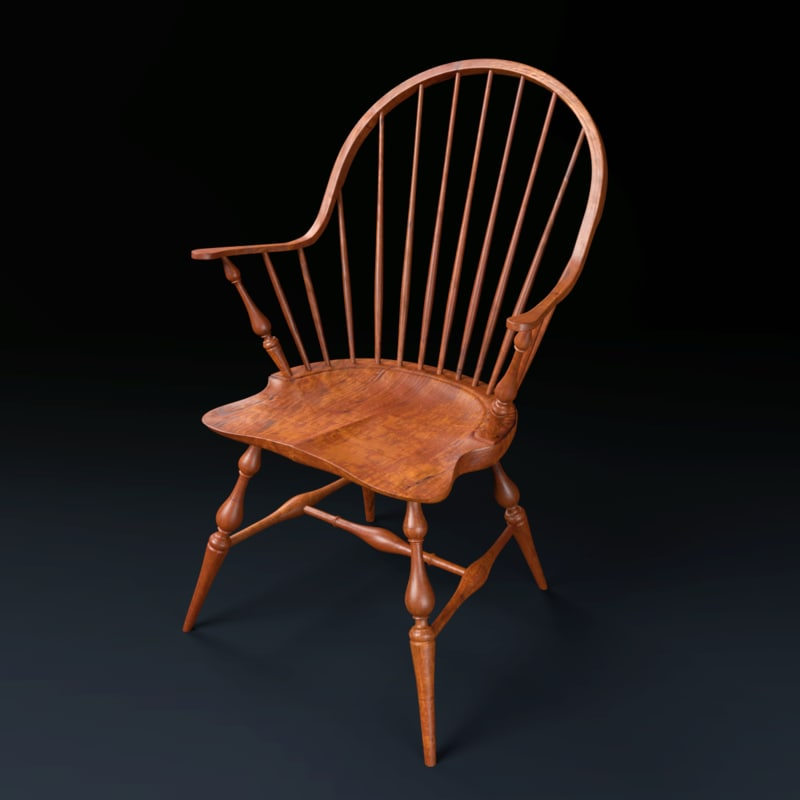 3d model of windsor chair