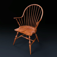 3d model of windsor chair