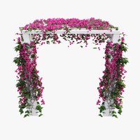 bouganvillea pergola ivy 3d model
