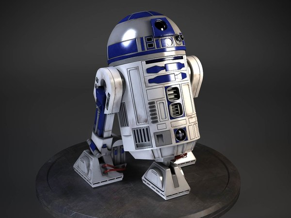 3d model star wars r2d2