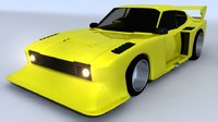 3d model capri gt turbo