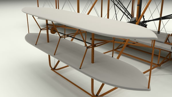 3d rigged 1903 wright flyer