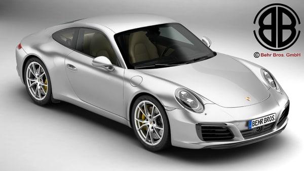 porsche 911 carrera 2017 3d max