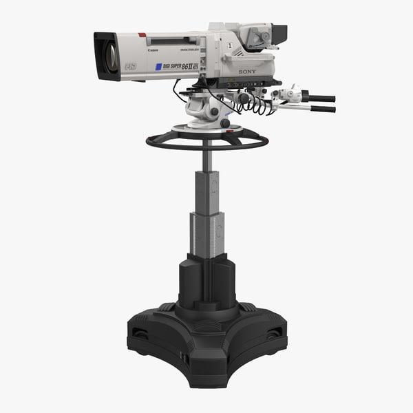 professional studio camera digi 3d model