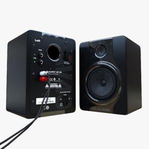 c4d m-audio speakers