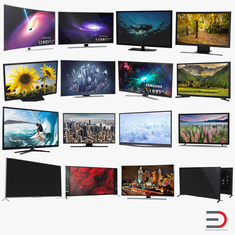 3d tv set model