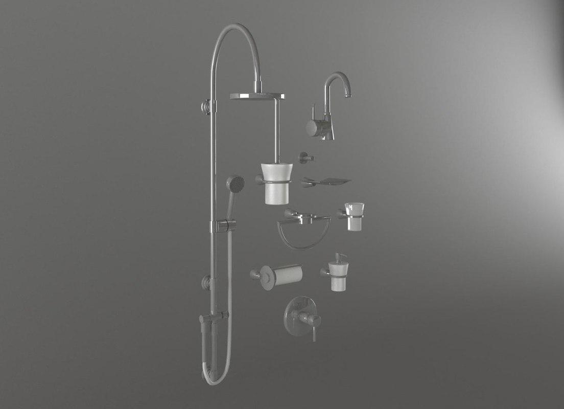 shower faucet accessories 3d max