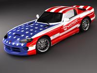 dodge viper gts sports car 3d model