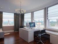 3d interior home office scene