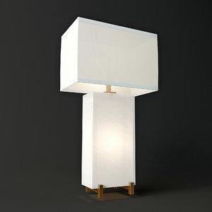 alabaster block table lamp 3d model