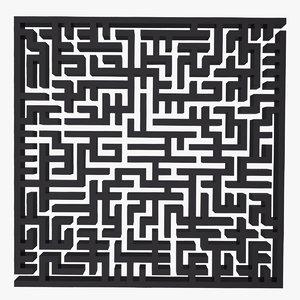 3ds maze labyrinth geometry