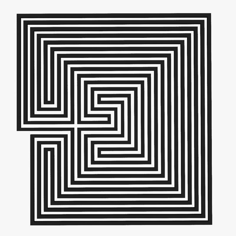 maze labyrinth geometry 3d model
