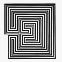 maze labyrinth geometry 3d model