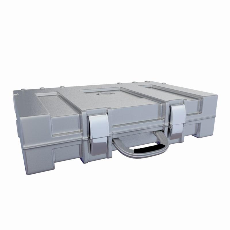 3d model metallic case