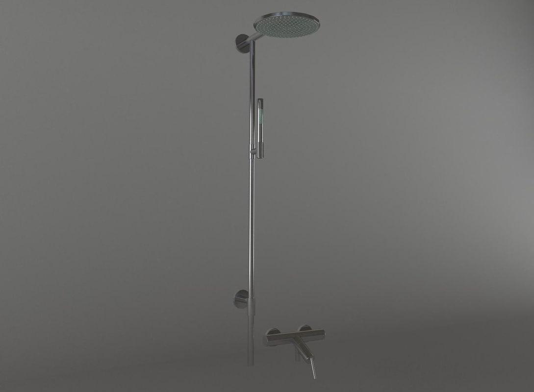 shower faucet 3d model
