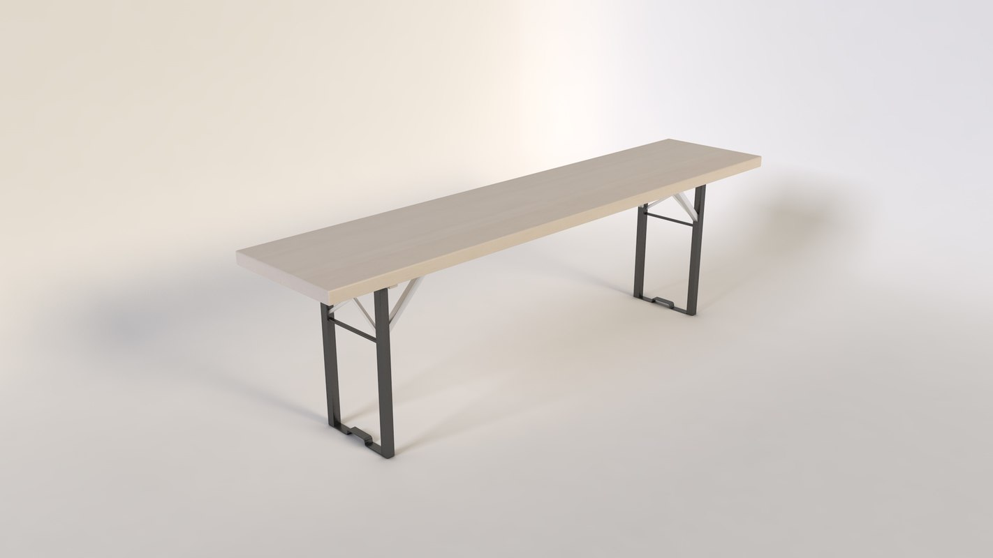 3d model banc bench
