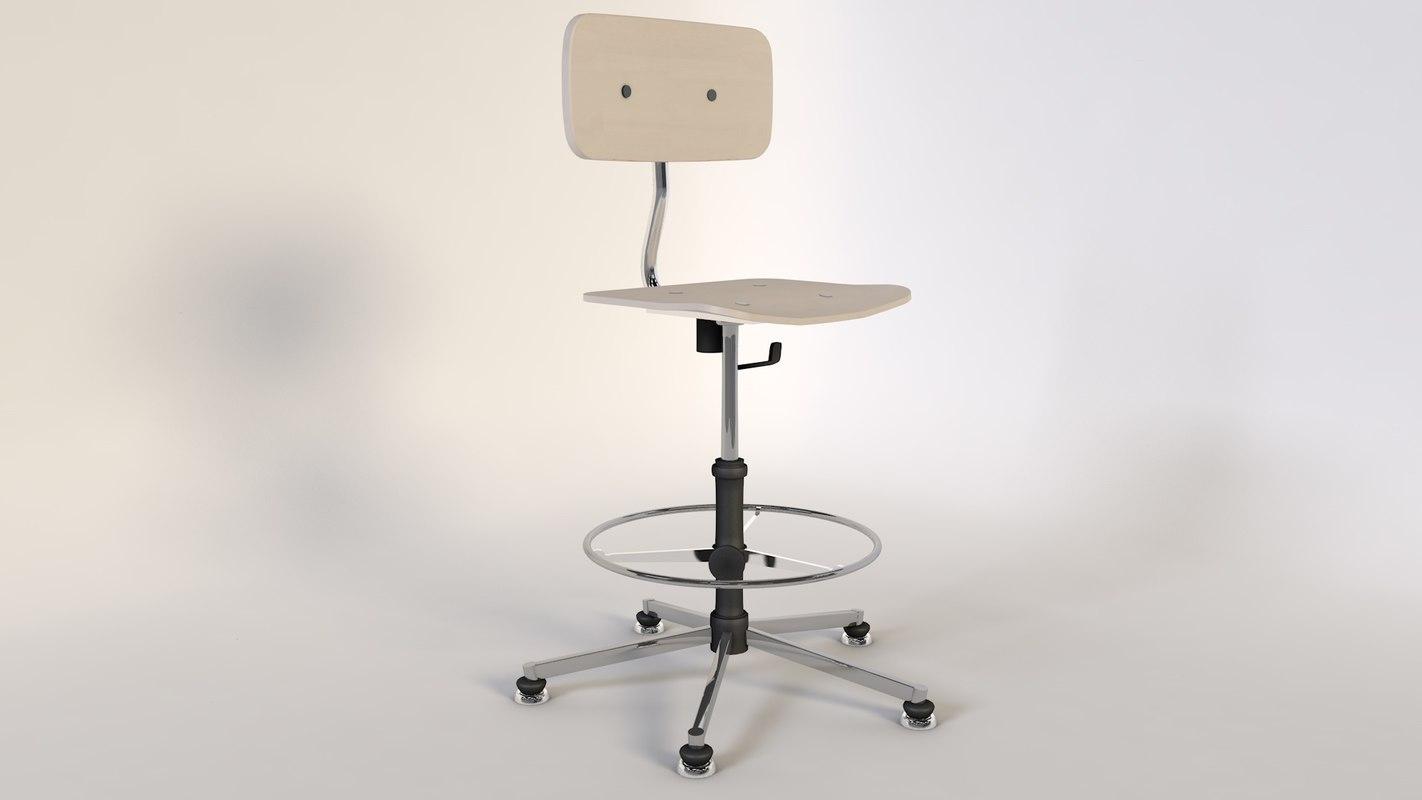 c4d chair deskchair turnablechair