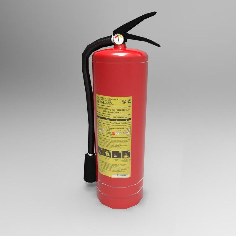 3d extinguisher ready model