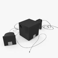 speakers stereo music 3d model