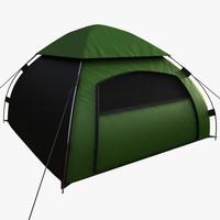 3d realistic camping tent